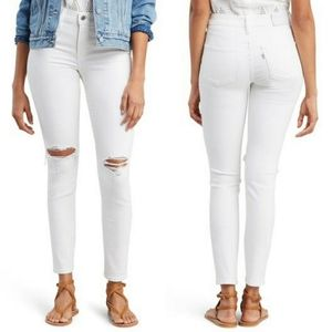 Levis 311 Shaping Skinny White Jeans